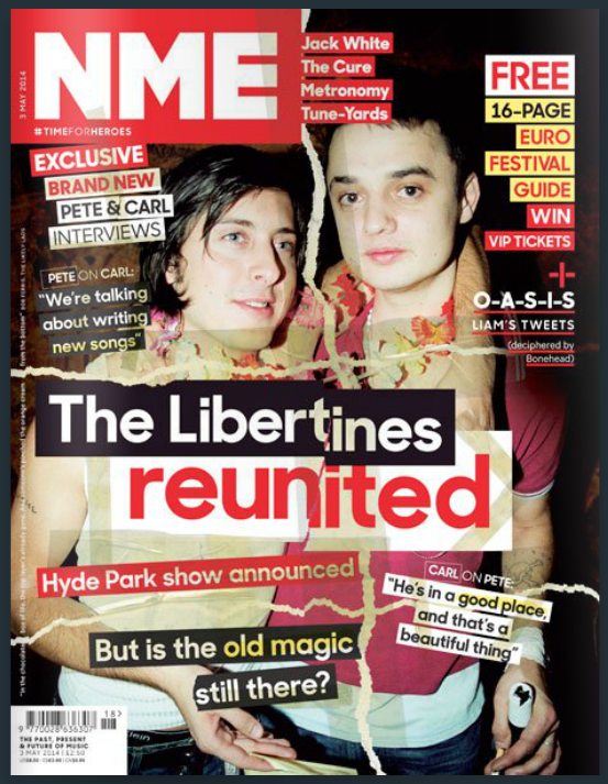 NME magazine cover from May 3, 2014